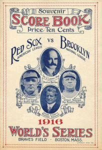 Dodgers Red Sox World Series 1916